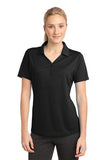 Sport Tek Ladies Micro Mesh Polo Black Custom Embroidered LST680