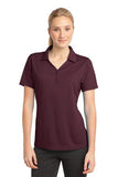Sport Tek Ladies Micro Mesh Polo Maroon Custom Embroidered LST680