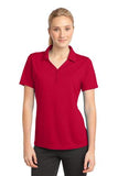 Sport Tek Ladies Micro Mesh Polo Red Custom Embroidered LST680