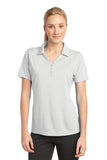 Sport Tek Ladies Micro Mesh Polo White Custom Embroidered LST680