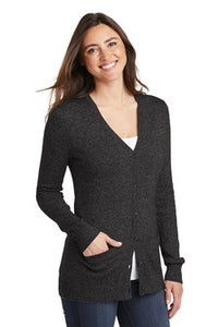 Port Authority Ladies Cardigan Navy Custom Embroidered LSW415
