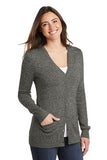 Port Authority Ladies Cardigan Grey Custom Embroidered LSW415
