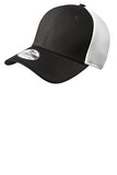 Custom Embroidered Brown and White Stretch Back Hat NE1020 New Era