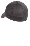Back View Grey Custom Embroidered Hat Stretch Back Hat New Era NE1020