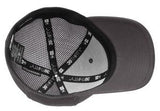 Inside View Grey Custom Embroidered Stretch Back Hat New Era NE1020