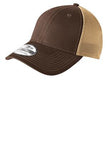 Brown and Tan Custom Embroidered Stretch Back Hat New Era NE1020