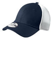Navy and White Embroidered Stretch Back Hat Custom New Era NE1020
