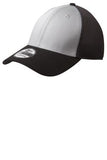 Black and White Embroidered Stretch Back Hat Custom New Era NE1020