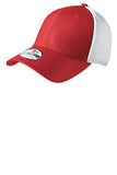 Red and White Custom Embroidered Stretch Back Hat New Era NE1020