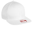 Custom Embroidered White Flat Rim Hat