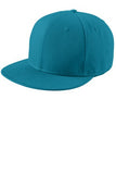 Custom embroidered light blue flat rim hat