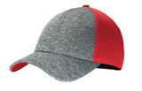 Big Bend Dr New Era Shadow Stretch Mesh Cap Custom Embroidered NE702 red heather