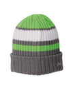New Era Ribbed Tailgate Beanie Custom Embroidered NE903 Cyber Green Graphite