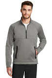 New Era quarter zip fleece pullover Shadow Grey Custom Embroidered NEa523