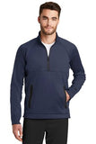 New Era quarter zip fleece pullover Navy Custom Embroidered NEa523