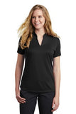 NKAA1848 Ophir Nike Ladies Dri-FIT Hex Textured V-Neck Top