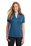 Nike Ladies Dri Fit V Neck Court Blue Custom Embroidered NKAA1848