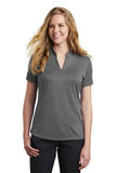 Nike Ladies Dri Fit V Neck Court Dark GreyCustom Embroidered NKAA1848