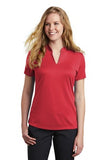 Nike Ladies Dri Fit V Neck Red Custom Embroidered NKAA1848