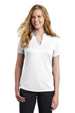 Nike Ladies Dri Fit V Neck White Custom Embroidered NKAA1848