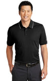 Nike  Dri Fit polo Black White Custom Embroidered NKAA1849