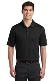 Nike Dri Fit Textured Polo Black Custom Embroidered NKAA6266