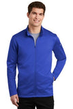 Nike Dri Fit Textured Full Zip Fleece Pullover Royal Custom Embroidered NKAh6418