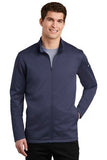 Nike Dri Fit Textured Full Zip Fleece Pullover Midnight Navy Custom Embroidered NKAh6418