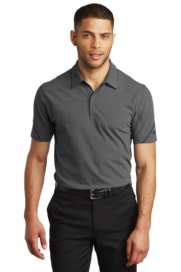 OGIO Thread Polo Blacktop Heather Custom Embroidered OG135