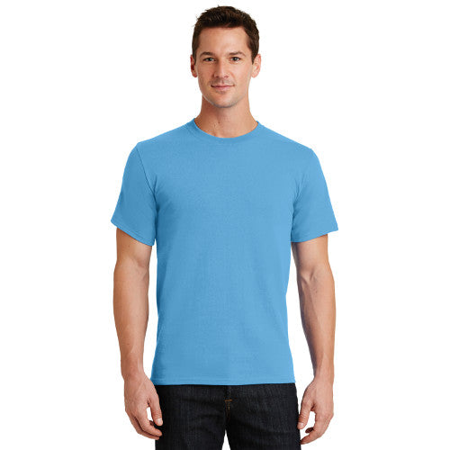 Port Company T Shirt Light Blue Custom Embroidered PC61