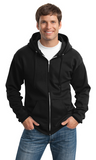 Miles St. Port & Company® Tall Essential Fleece Full-Zip Hooded Sweatshirt PC90ZHT