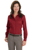 Red House Ladies Non Iron Button Down Shirt Deep Red Custom Embroidered RH47