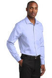 Red House Slim Fit Pinpoint Oxford Non Iron Shirt Custom Embroidered RH620 Blue
