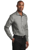 Red House Slim Fit Pinpoint Oxford Non Iron Shirt Custom Embroidered RH620 Charcoal