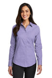 Red House Ladies Windowpane Plaid Non Iron Shirt Custom Embroidered RH71 Thistle Purple