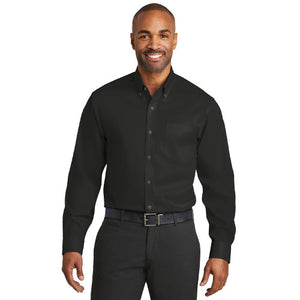 Red House Non Iron Twill Shirt Custom Embroidered RH78 Black