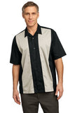 custom embroidered short sleeve button down