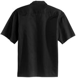 men's custom logo short sleeve button down
