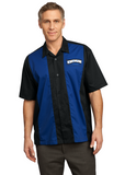 Port Authority Retro Camp Shirt Black Royal Custom Embroidered PC78H