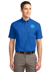 Port Authority Short Sleeve Shirt Custom Embroidered S508 Royal