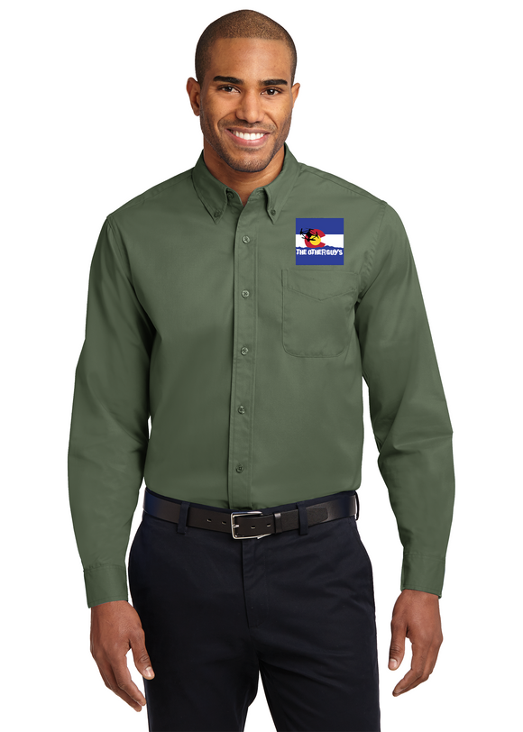 Morning Thunder - Port Authority® Long Sleeve Easy Care Embroidered Shirt (S608)