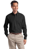 Port Authority Button Up Long Sleeve Shirt Black Custom Embroidered S632