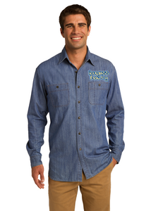 Pioneer Trail - Port Authority® Patch Pockets Denim Custom Shirt (S652)