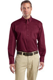 Maroon Men's embroidered button down shirt