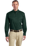 Dark Green Men's custom embroidered button down shirt