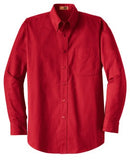 custom red men's button down shirt