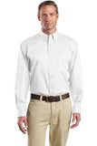 white custom men's button down shirt