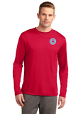Sport Tek Long Sleeve Competitor Red Custom Embroidered ST350LS