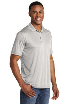 Sport Tek Competitor Polo Custom Embroidered ST550 Silver