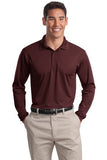 Sport Tek Long Sleeve Polo Custom Embroidered ST657 Maroon